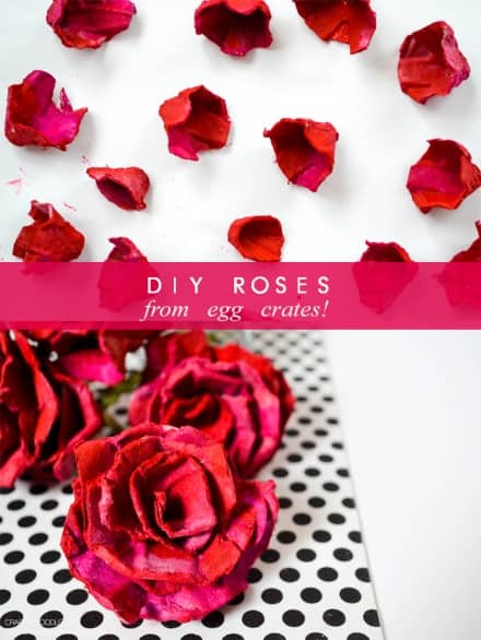 DIY: Roses from Egg crates
