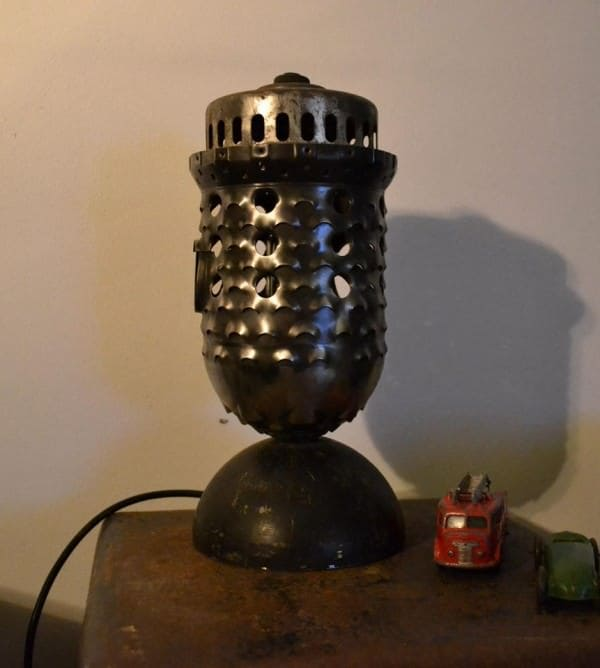 Industrial lamp made from recycled airplane parts Lamps & Lights