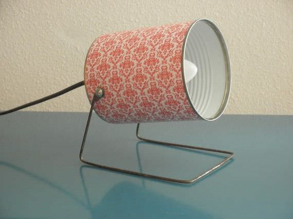 Tin can spot in packagings lights  with tin can Recycled Lamp DIY