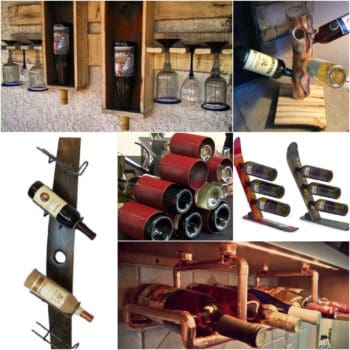 14 Original Wine Racks From Recycled Materials