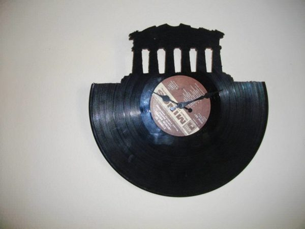 Clocks Made from Upcycled Vinyl Records Recycled Vinyl