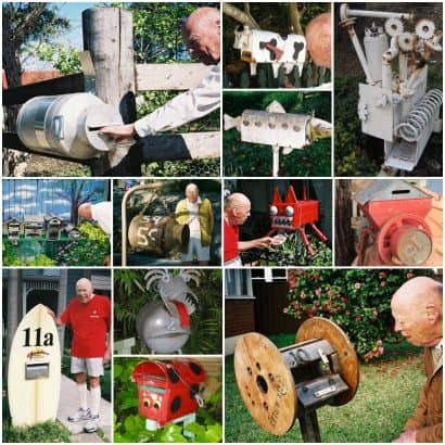 A collection of 38 recycled Mailboxes from Sydney