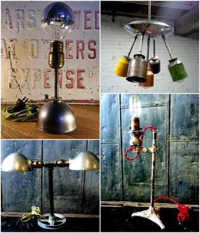 Vintage industrial lighting with a modern twist