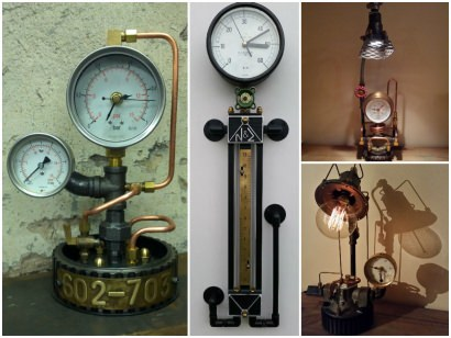 Industrial Lamps and clocks