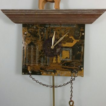 Recycled Computer Motherboard into Clock
