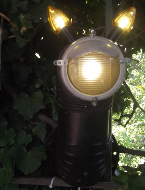 Lamp from recycled materials in lights  with Recycled Motorcycle Light Lamp