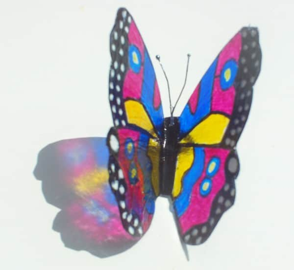 Beautiful Butterflies from recycled plastic in plastics diy  with Recycled Plastic DIY