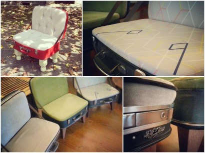 Upcycled Vintage Luggage Chair