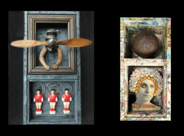 Assemblage of Junk Art Recycled Art