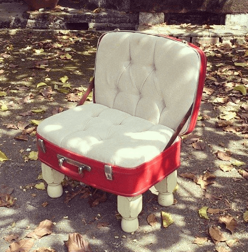 Upcycled Vintage Luggage Chair Recycled Furniture