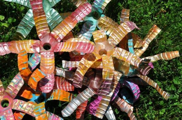 Reclaimed Water Bottles Sculpture in art plastics  with Sculpture Recycled Art reclaimed kids