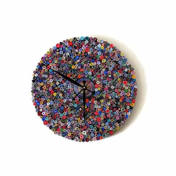 Recycled Paper Wall Clock Recycled Art Recycling Paper & Books