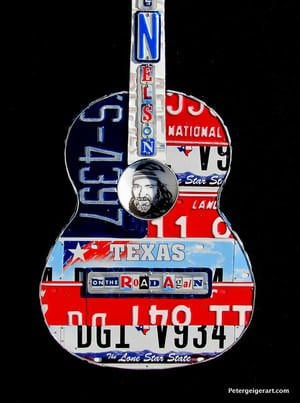 License plate guitar art Recycled Art
