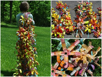 Reclaimed Water Bottles Sculpture