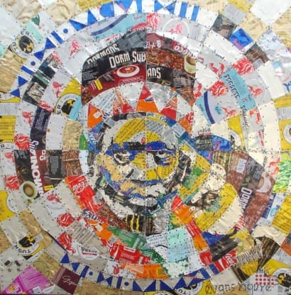 The Thought: Recycled Cans portrait