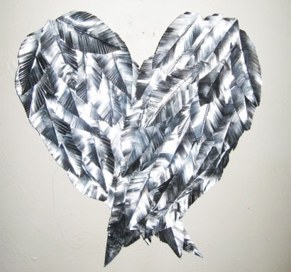 Recycled Aluminum Can – Angel Wings Wall Art