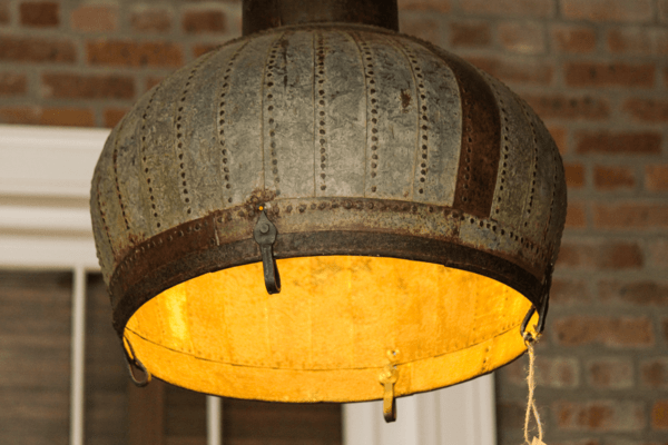 Repurposed industrial dome light Lamps & Lights