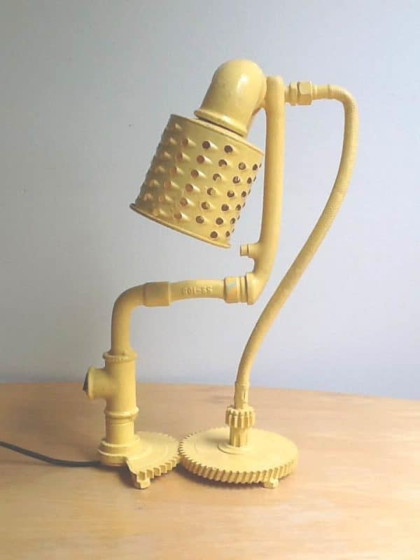 Salvaged Yellow Lamp Lamps & Lights