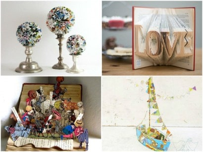 Top 10 Recycled Book Art