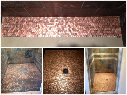 Penny Shower Floor