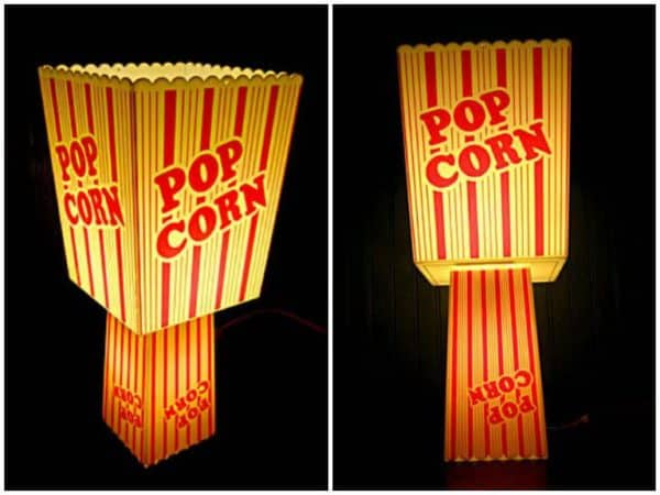 Recycled Popcorn Containers into Table Lamp Lamps & Lights