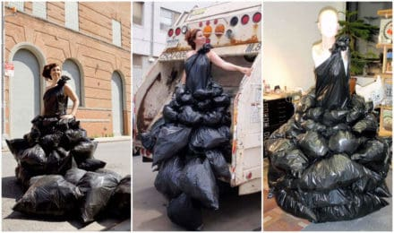 Garbage Dress by Robin Barcus
