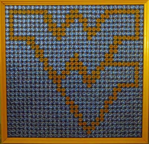 Bottle Cap Mosaics Do-It-Yourself Ideas Recycled Art