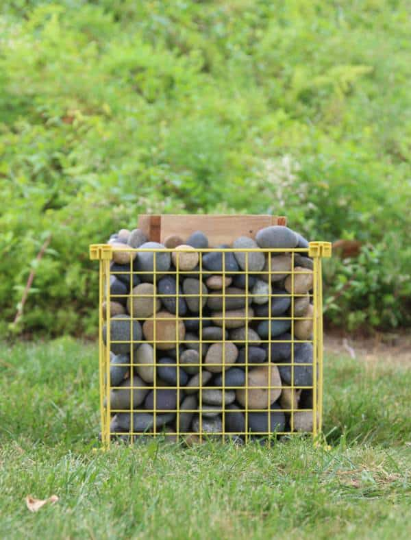 Pallet Wood & Upcycled Metal Cage Garden Furniture Garden Ideas Recycled Furniture