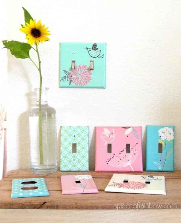 Turn Old Switch plates to Designer Ones Do-It-Yourself Ideas