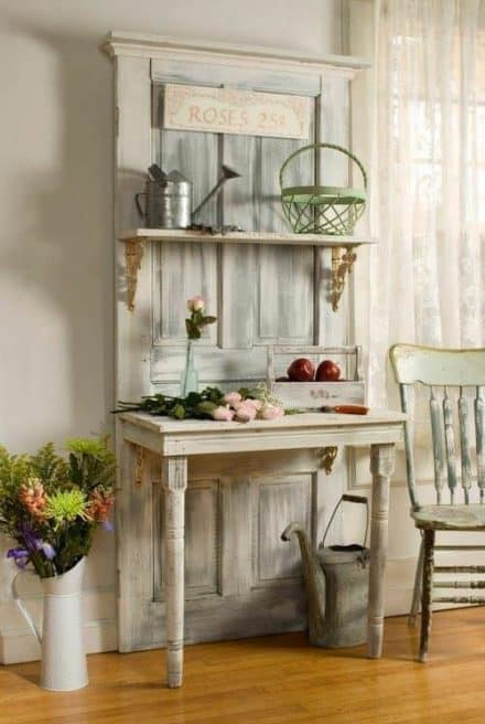 Interior Design Idea: Old Door Upcycled Into Hall Table