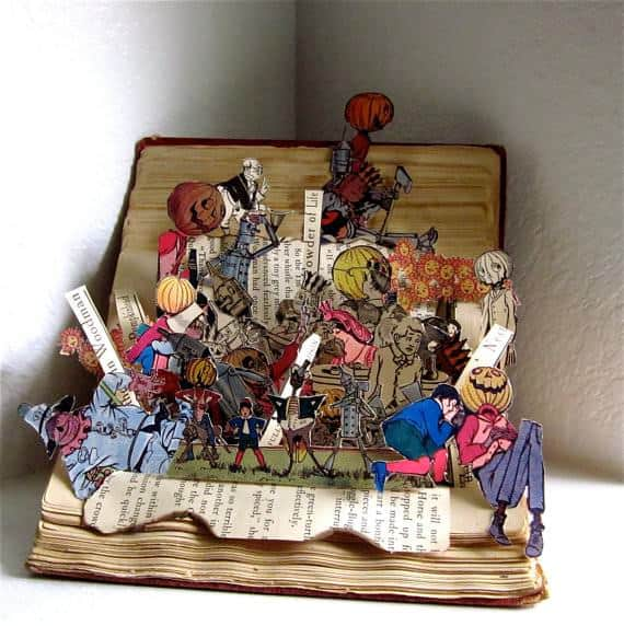 Top 10 Recycled Book Art Recycled Art Recycling Paper & Books