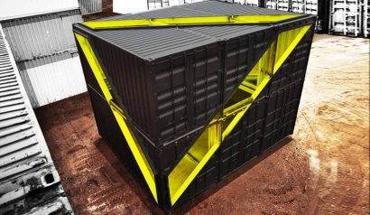 Lot-ek container installation