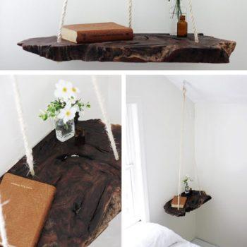 Diy: Wood Log Into Pendant Table