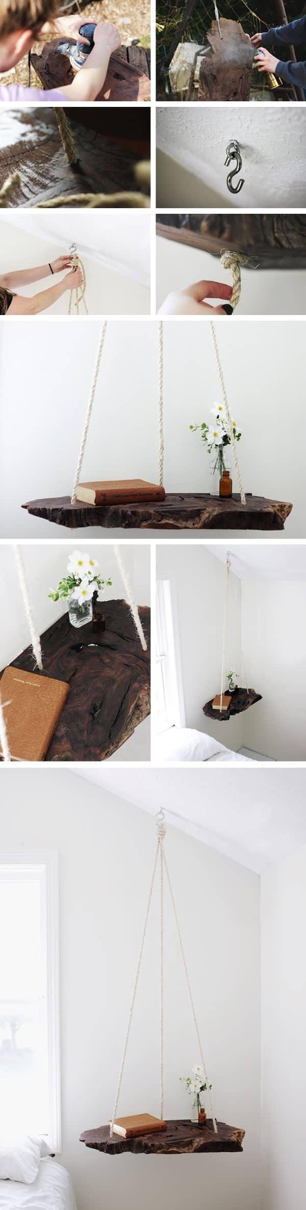 Diy: Wood Log Into Pendant Table Do-It-Yourself Ideas Wood & Organic