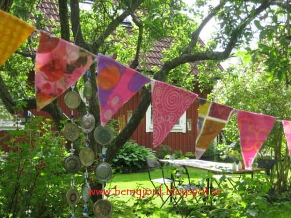 Party Flags of Recycled Plastic Bags Recycled Plastic