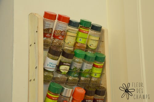 Spice Rack with Bicycle Wheel Accessories Upcycled Bicycle Parts