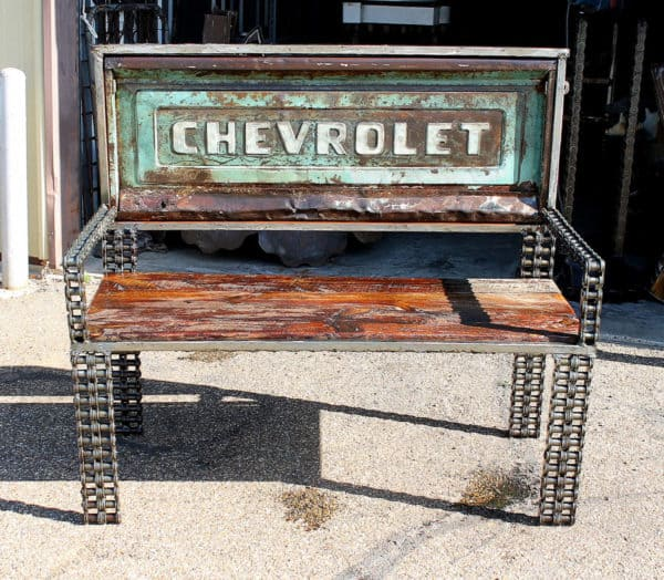 Vintage Truck Parts Transformed Into Benches Mechanic & Friends Recycled Furniture Recycling Metal