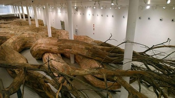 Repurposed Wood To Build Giant Root you can explore Home Improvement Recycled Art
