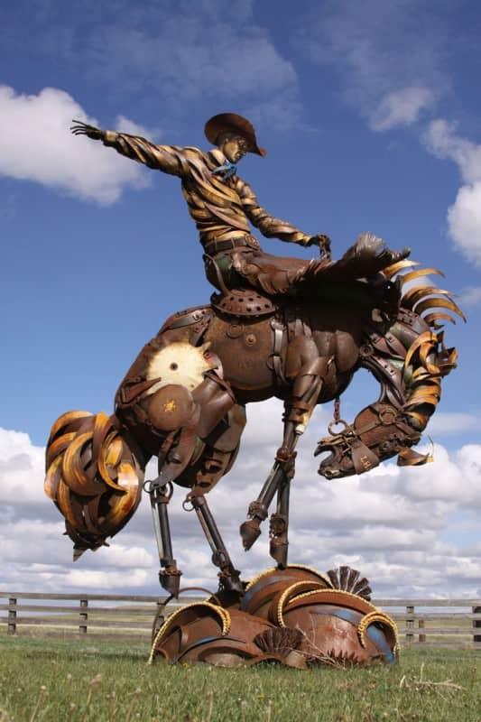 John Lopez Metal Sculptures Recycled Art Recycling Metal