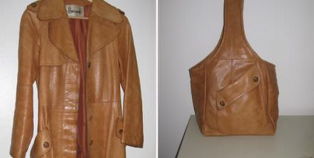 Upcycled leather Jacket-to-bag