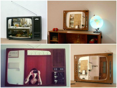 Recycled TV into Mirrors