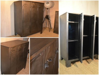 Buffet industriel sur pieds / Industrial chest of drawers