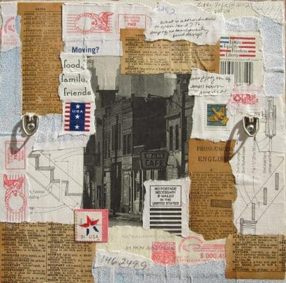 Use Those Old Paintings to Make Your Own Collage Painting