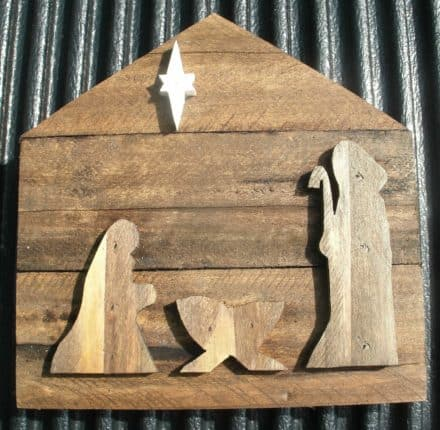 Nativity Made from Pallet Wood