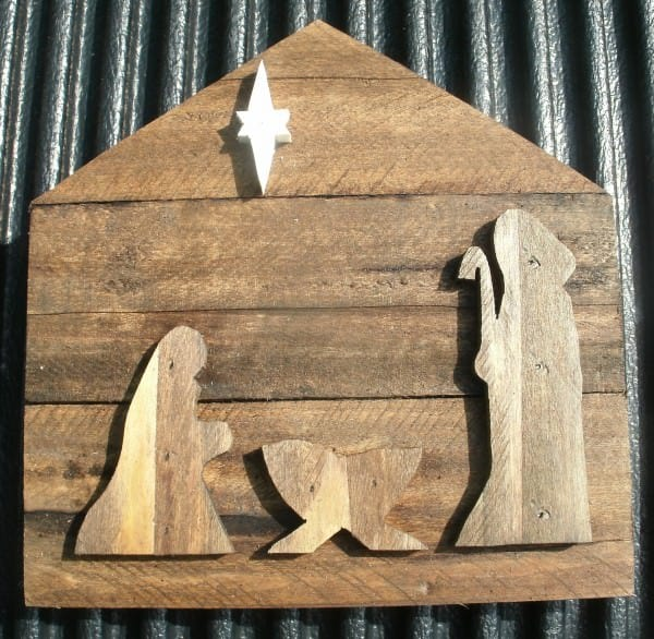 Nativity made from Pallet Wood Recycled Pallets