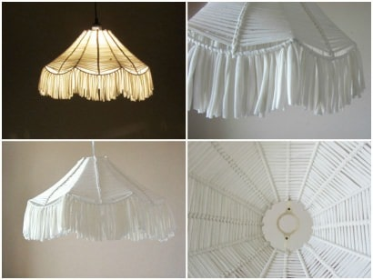 Upcycled fabric lampshade