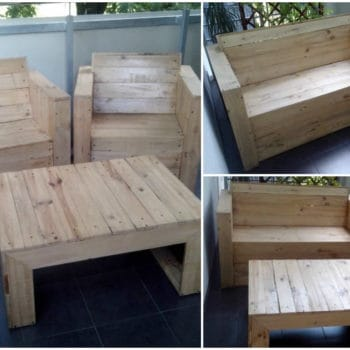 Pallet Chairs & Coffee Table