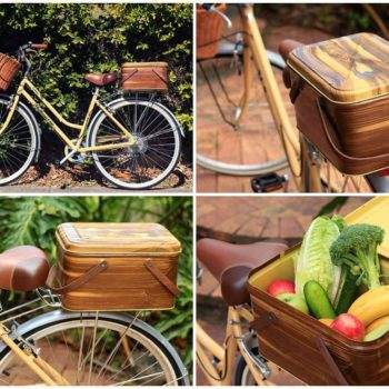 How To Create A Bicycle Crate Out Of A Vintage Picnic Basket