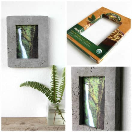 Cereal Box Concrete Picture Frame