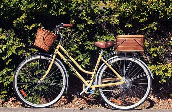 How To Create A Bicycle Crate Out Of A Vintage Picnic Basket Bike & Friends Do-It-Yourself Ideas